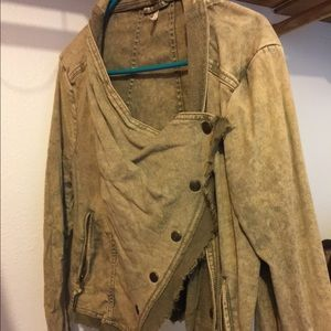 Brand new condition free people distressed jacket